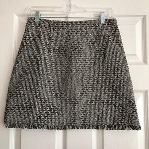 WORN ONCE - MINKPINK - Black and white tweed skirt